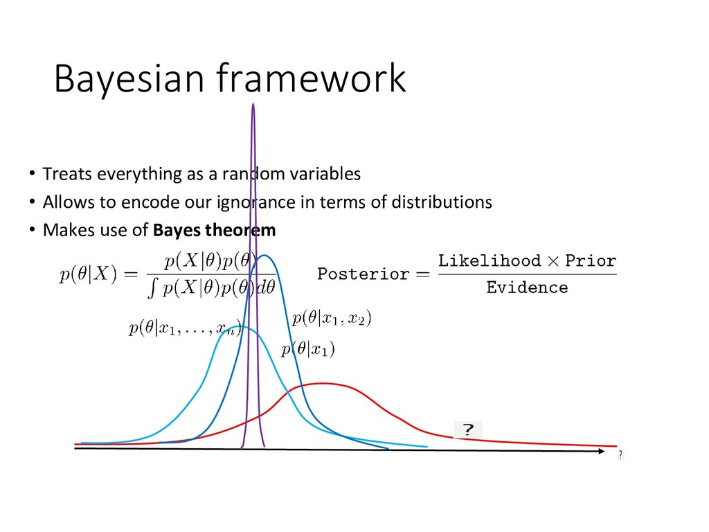 Bayesian framework • Treats everything as a ran...