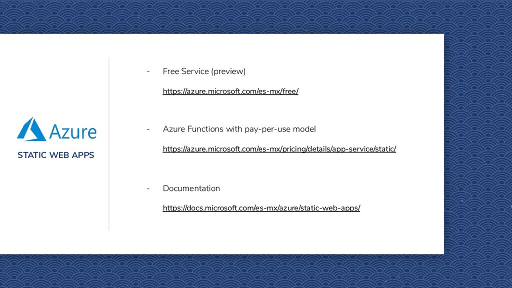STATIC WEB APPS - Free Service (preview) https:...