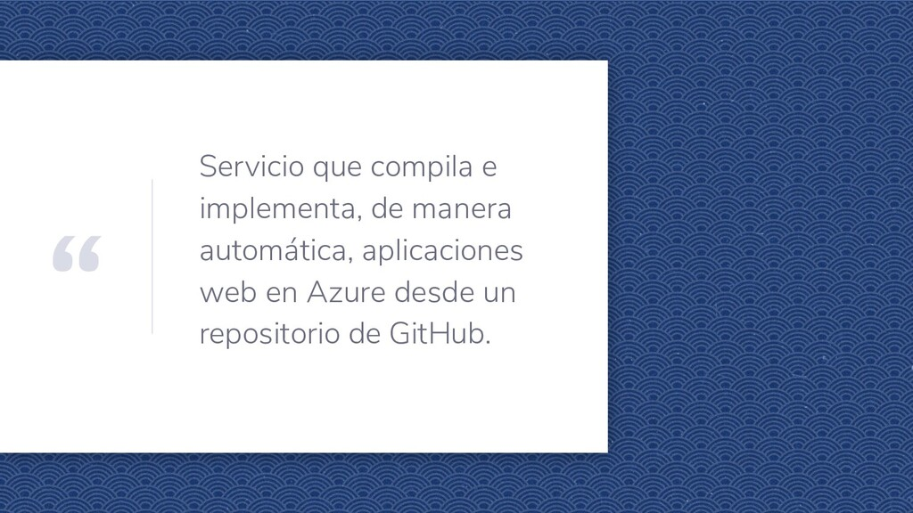 """"""" Servicio que compila e implementa, de manera ..."""