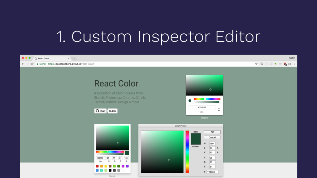 1. Custom Inspector Editor