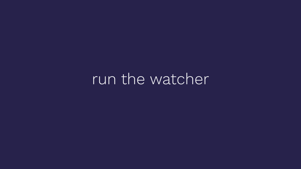run the watcher