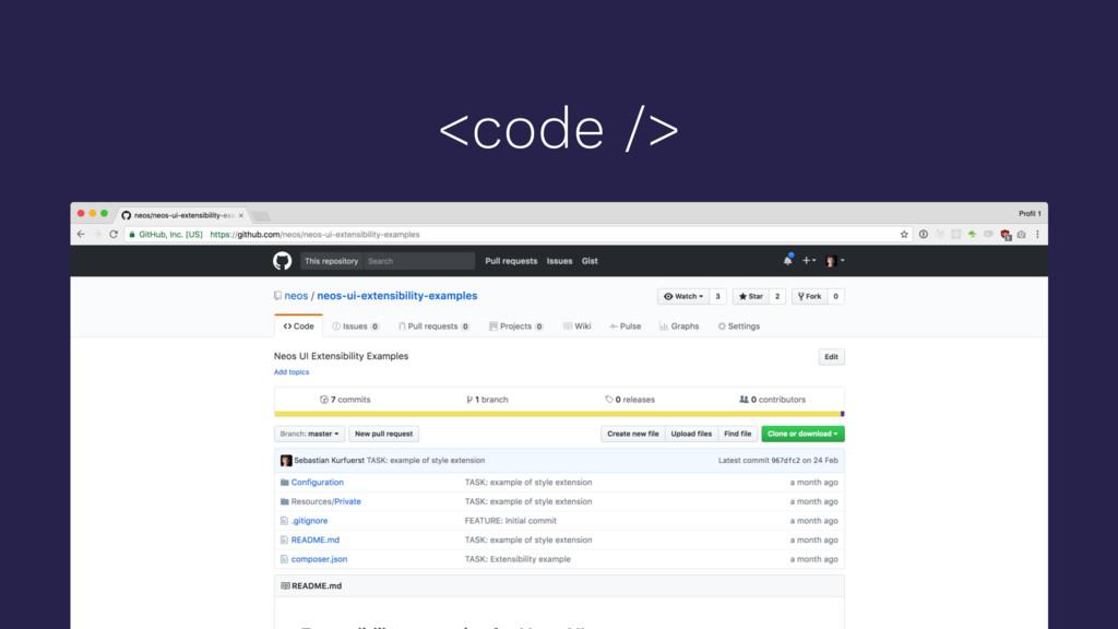 <code />