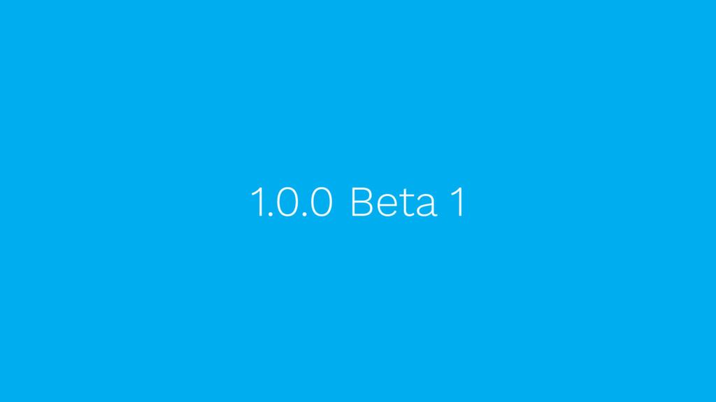 1.0.0 Beta 1