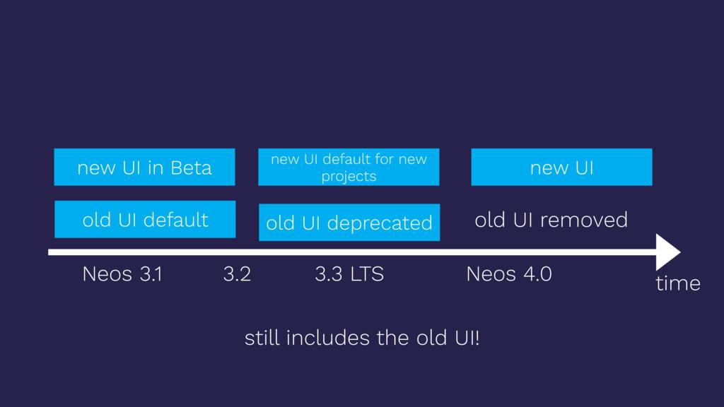 time old UI default new UI in Beta new UI old U...