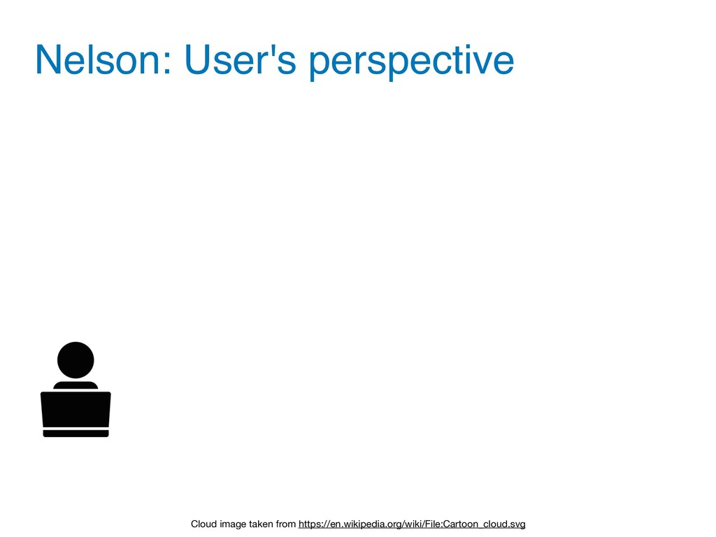 Nelson: User's perspective Cloud image taken fr...