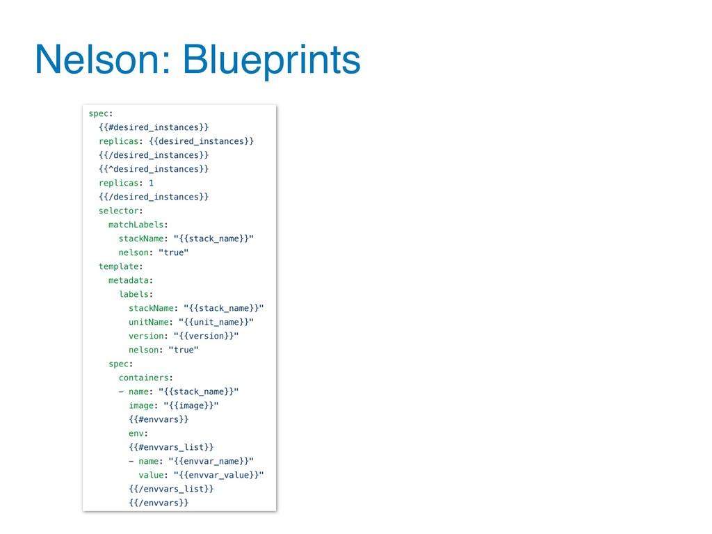 Nelson: Blueprints