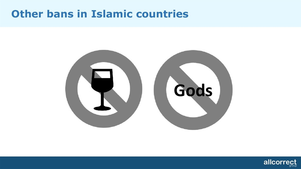 Other bans in Islamic countries Gods