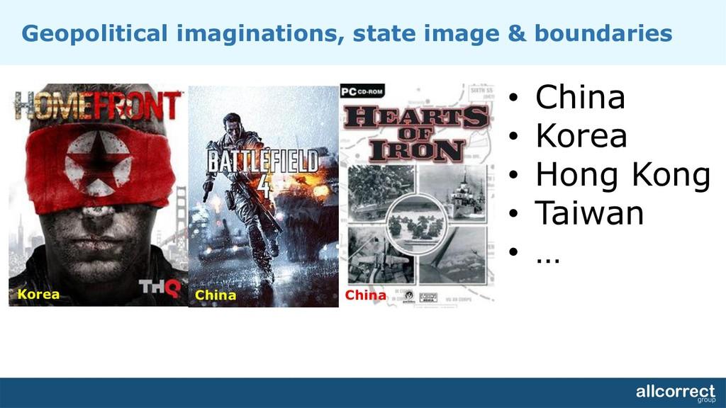 Geopolitical imaginations, state image & bounda...