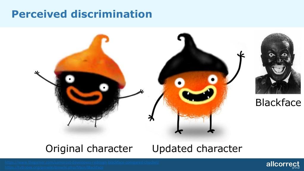 Original character Updated character Blackface ...