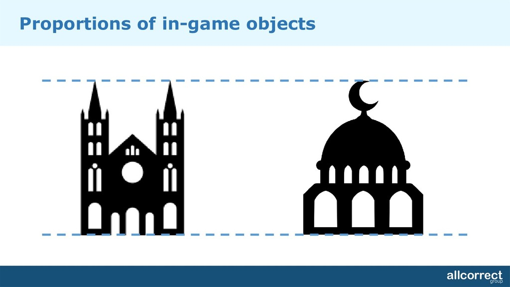 Proportions of in-game objects
