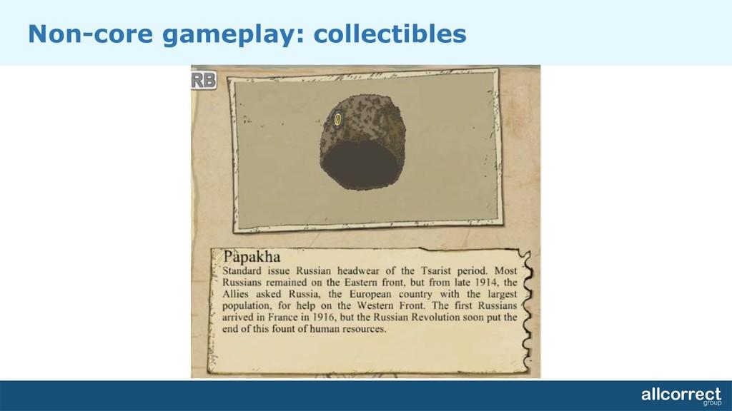 Non-core gameplay: collectibles