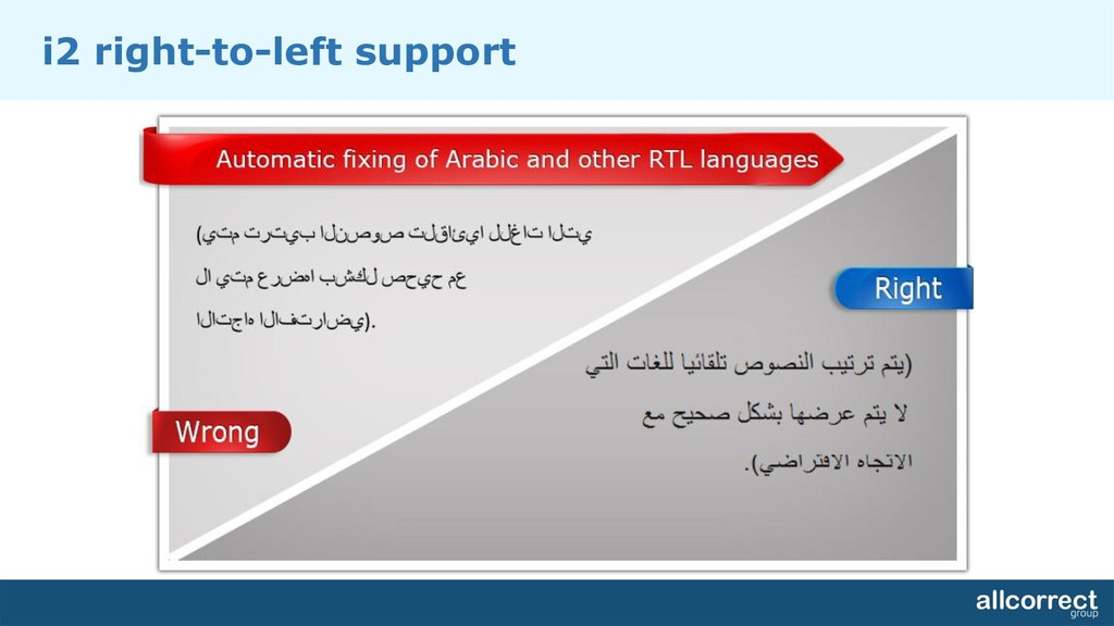 i2 right-to-left support