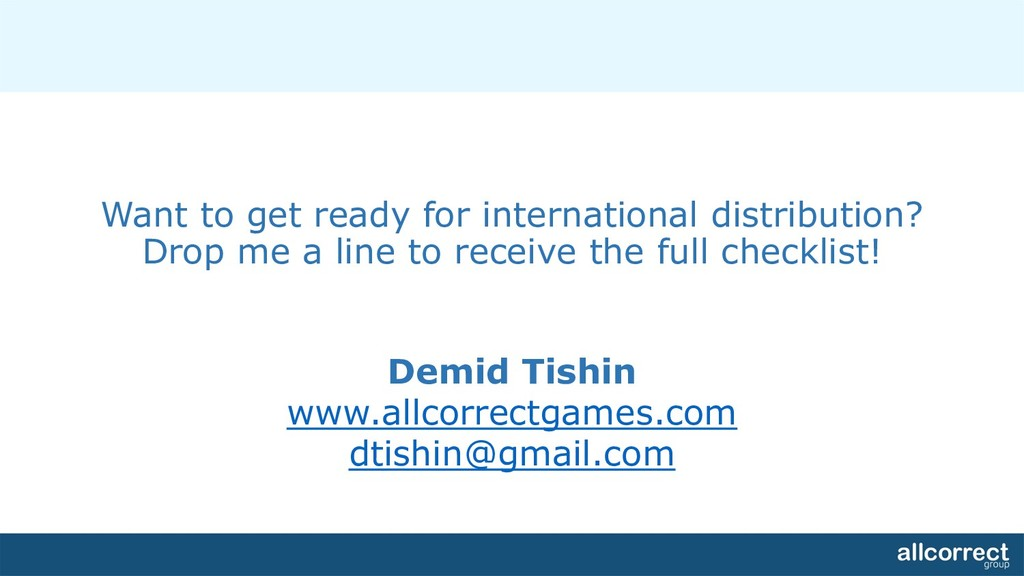 Want to get ready for international distributio...
