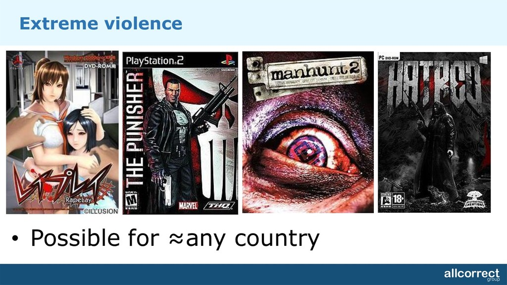 Extreme violence • Possible for ≈any country