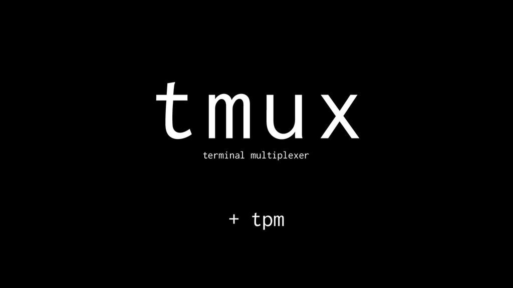 tmux terminal multiplexer + tpm