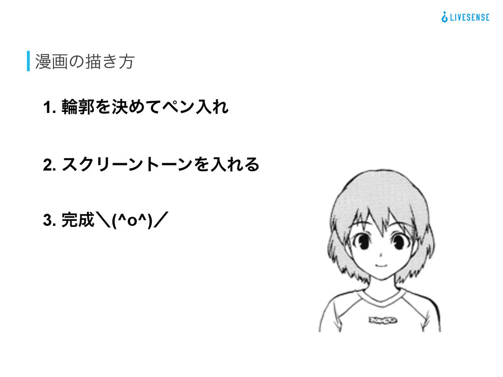 ອըͷඳ͖ํ 3. ʘ(^o^)ʗ 2. εΫϦʔϯτʔϯΛೖΕΔ 1. ྠֲΛܾΊͯϖϯ...