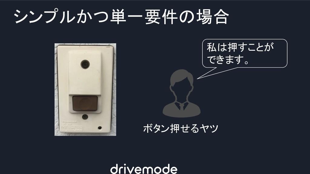 シンプルかつ単一要件の場合 私は押すことが できます。 ボタン押せるヤツ