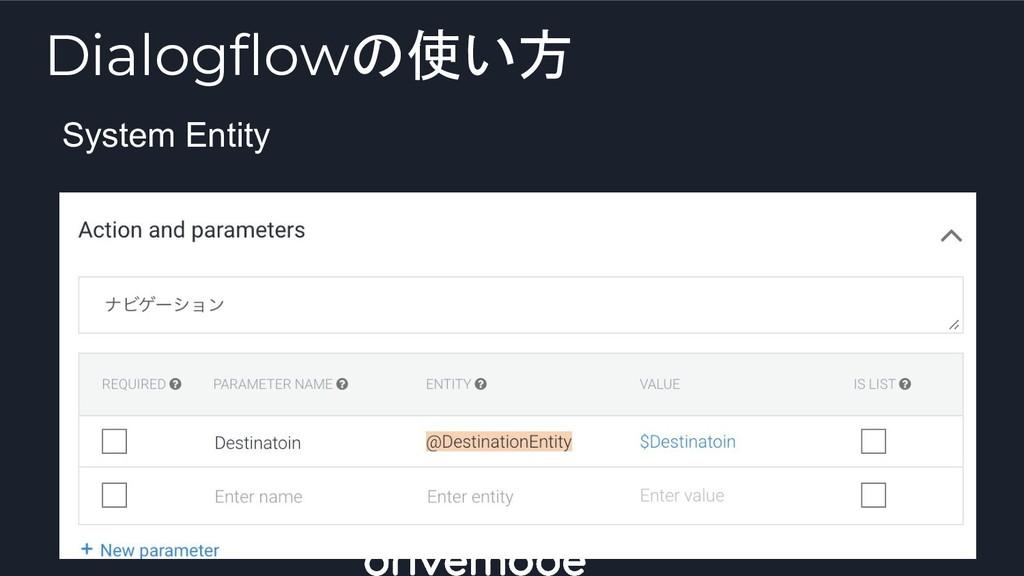 System Entity Dialogflowの使い方