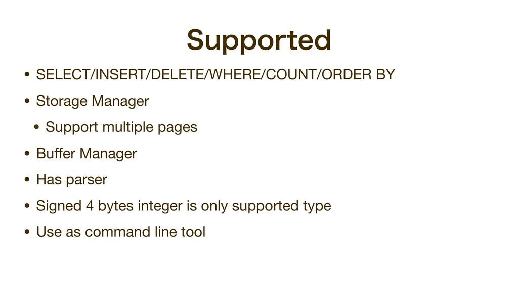 4VQQPSUFE • SELECT/INSERT/DELETE/WHERE/COUNT/OR...