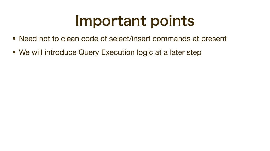 *NQPSUBOUQPJOUT • Need not to clean code of se...