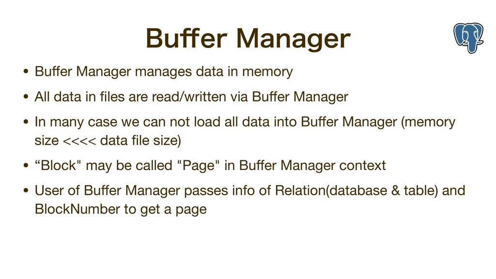 #V⒎FS.BOBHFS • Buffer Manager manages data in m...