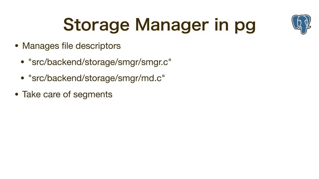 4UPSBHF.BOBHFSJOQH • Manages file descriptors...
