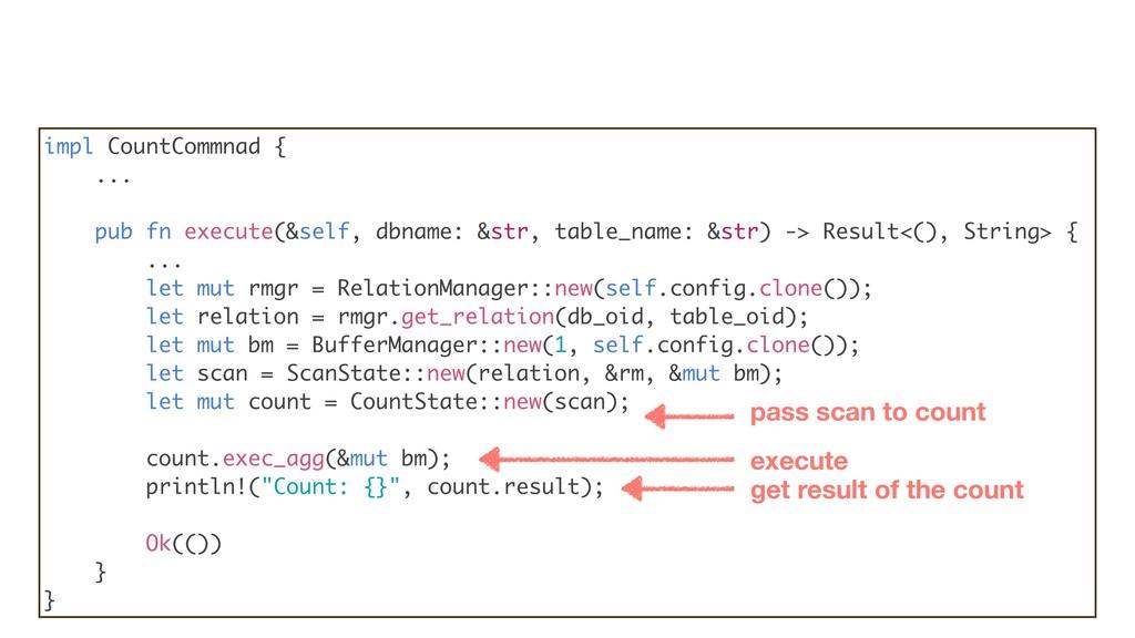 impl CountCommnad { ... pub fn execute(&self, d...