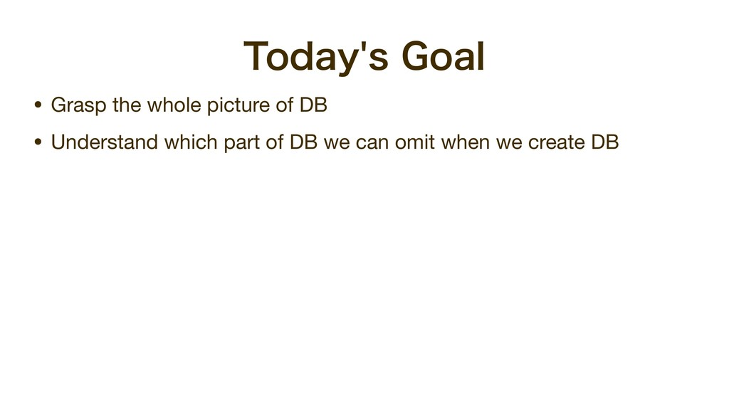 5PEBZT(PBM • Grasp the whole picture of DB  •...