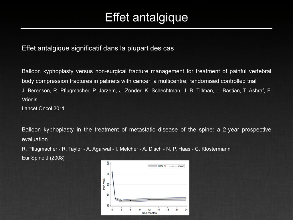 Effet antalgique Effet antalgique significatif ...