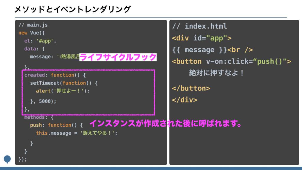 ϝιουͱΠϕϯτϨϯμϦϯά // main.js new Vue({ el: '#app'...