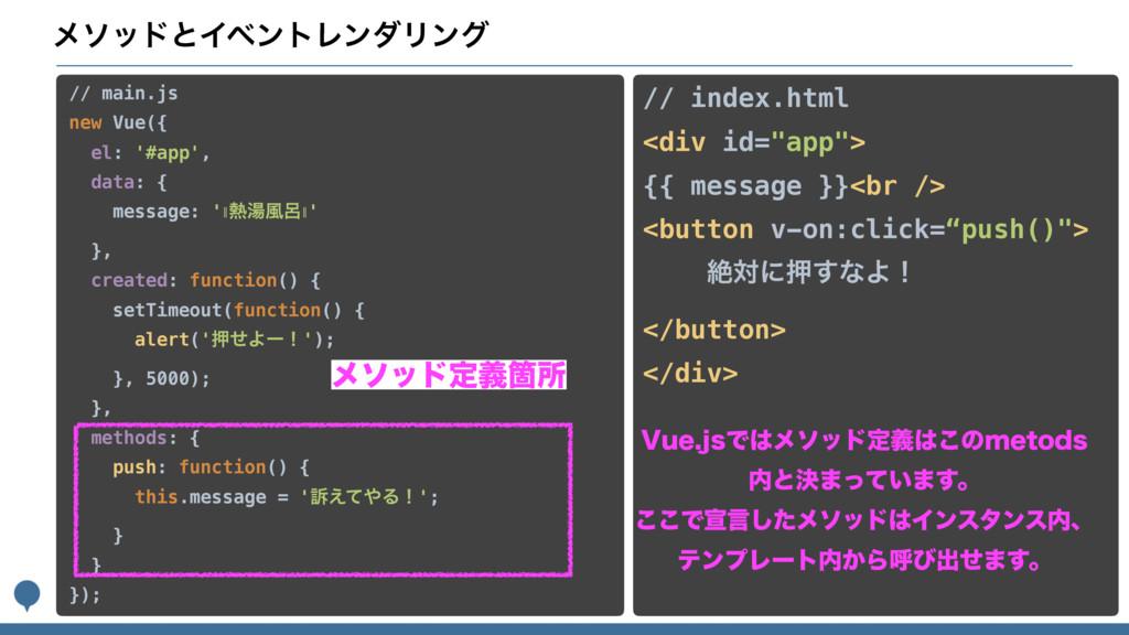 ϝιουͱΠϕϯτϨϯμϦϯά // main.js new Vue({ el: '#app...