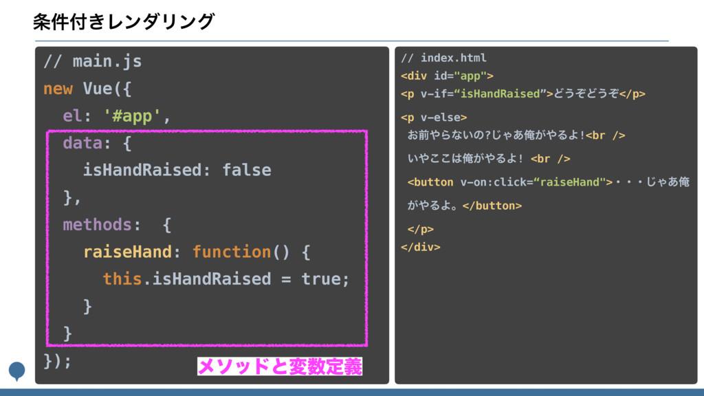 ͖݅ϨϯμϦϯά // main.js new Vue({ el: '#app', da...