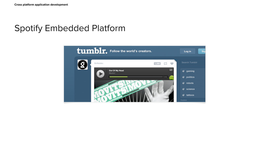 Spotify Embedded Platform Cross platform applic...