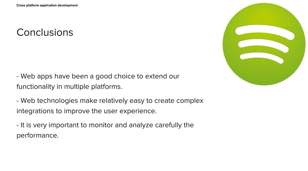 Conclusions Cross platform application developm...