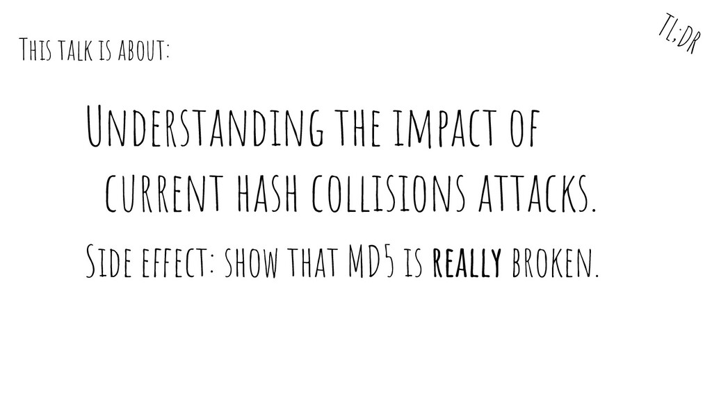 Understanding the impact of current hash collis...