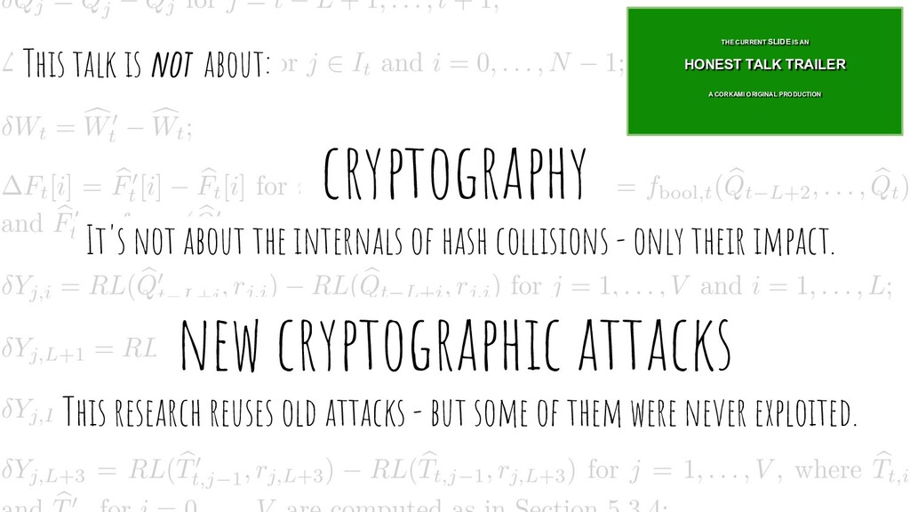 -cryptography- -It's not about the internals of...