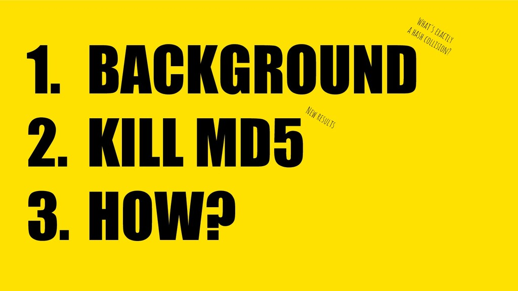 BACKGROUND KILL MD5 HOW? 1. 2. 3. What's exactl...