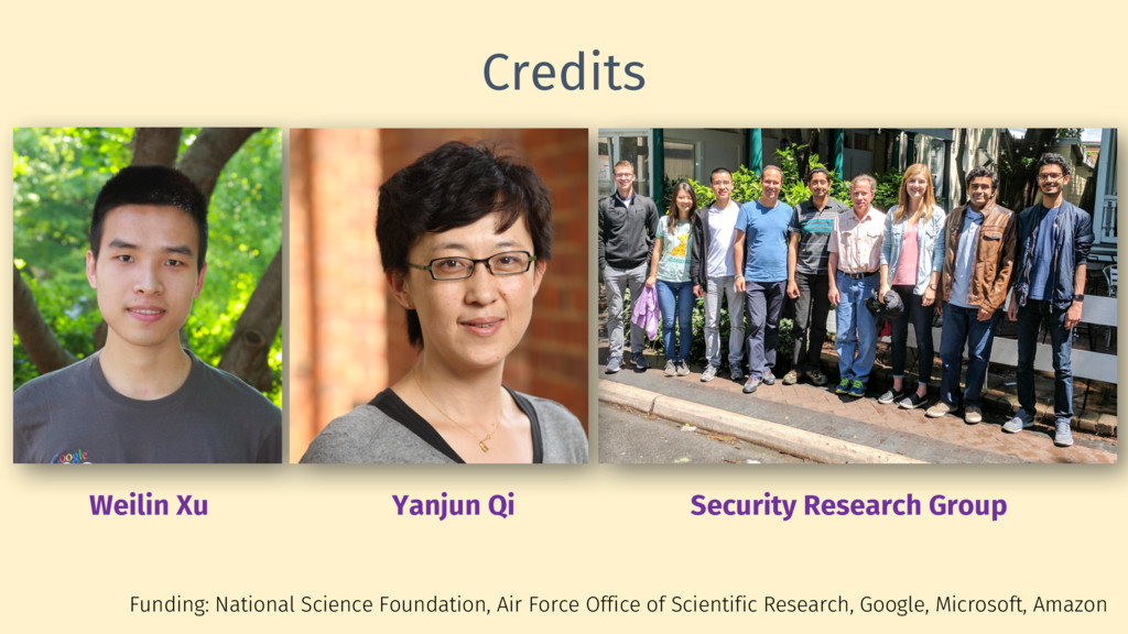 Credits Funding: National Science Foundation, A...