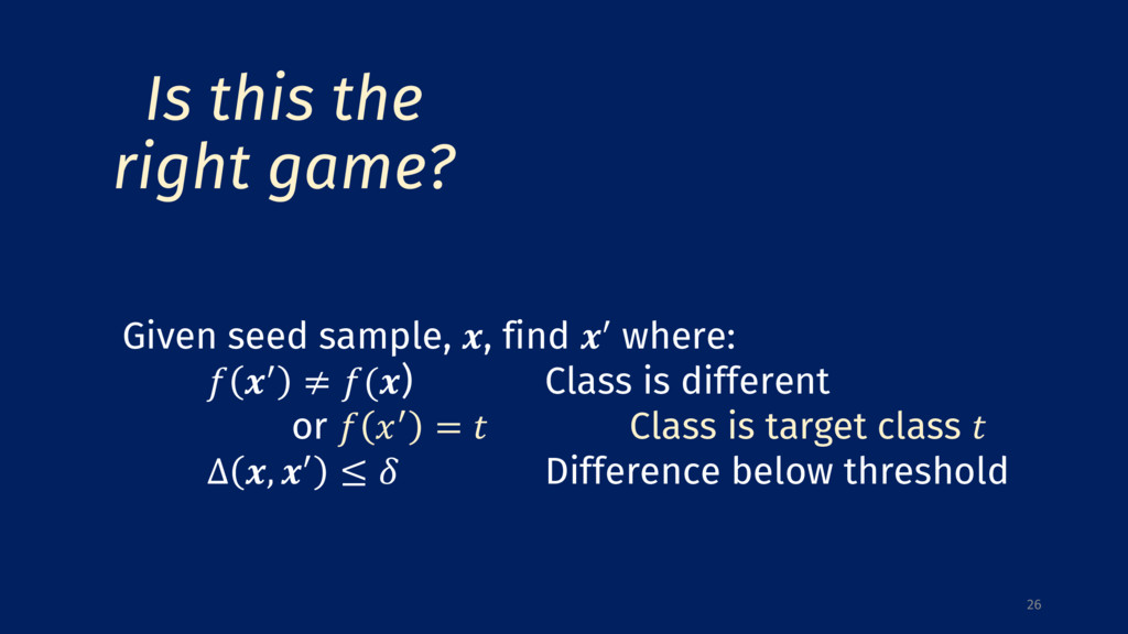 26 Given seed sample, , find 0 where:  0 ≠ () C...