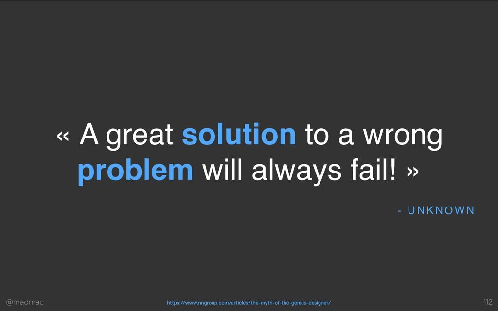 @madmac - U N K N O W N « A great solution to a...