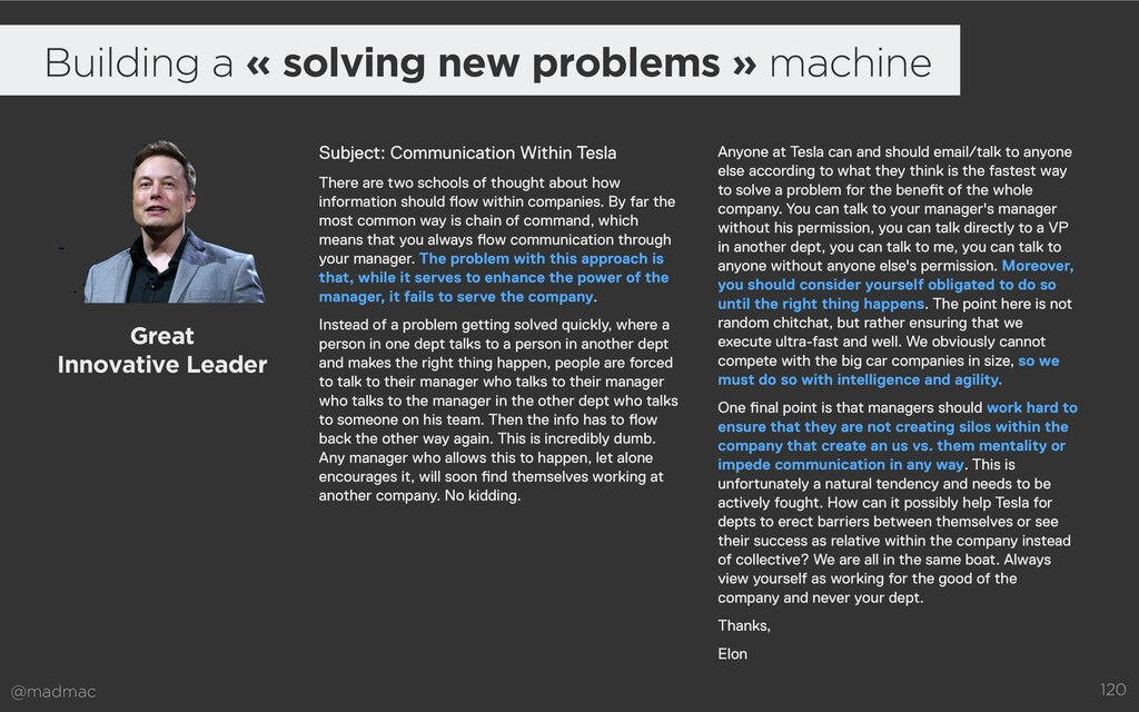 @madmac 120 Building a « solving new problems »...