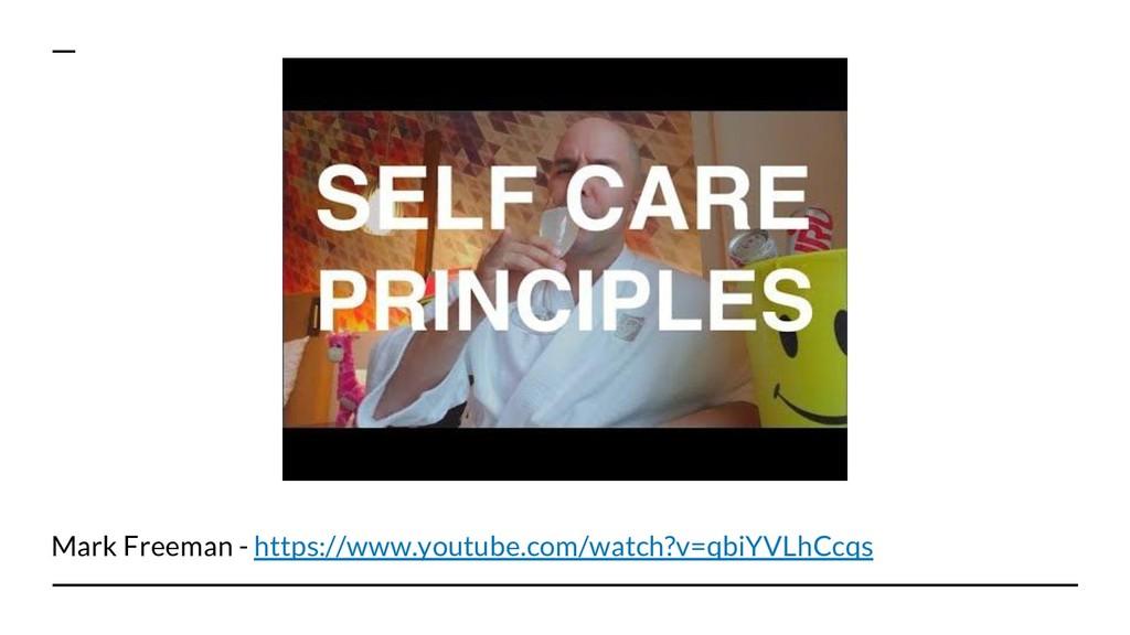 Mark Freeman - https://www.youtube.com/watch?v=...
