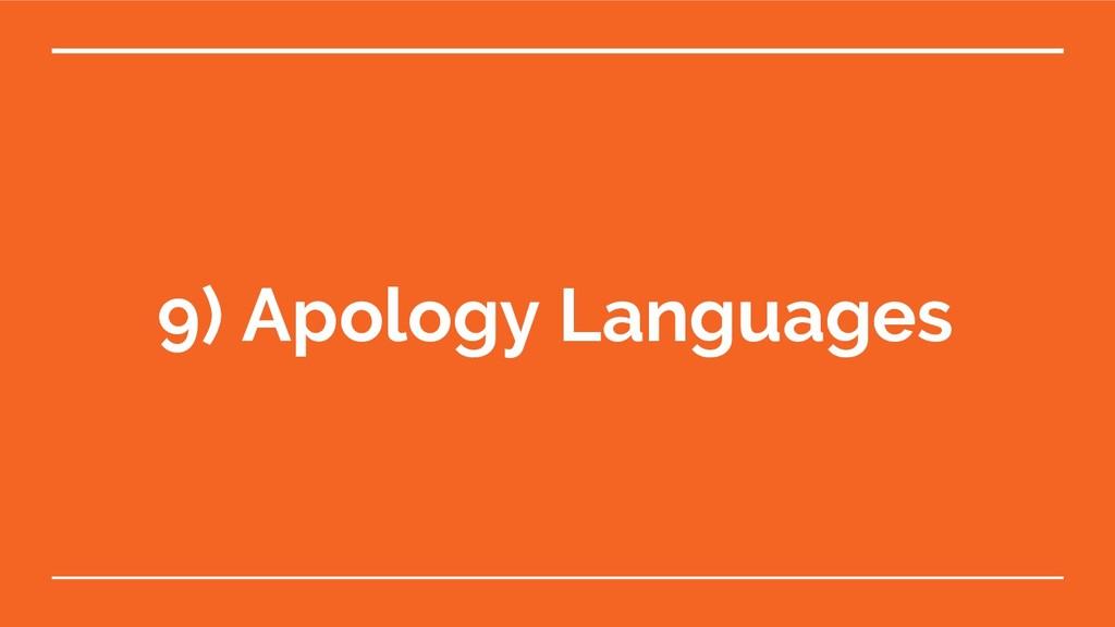 9) Apology Languages