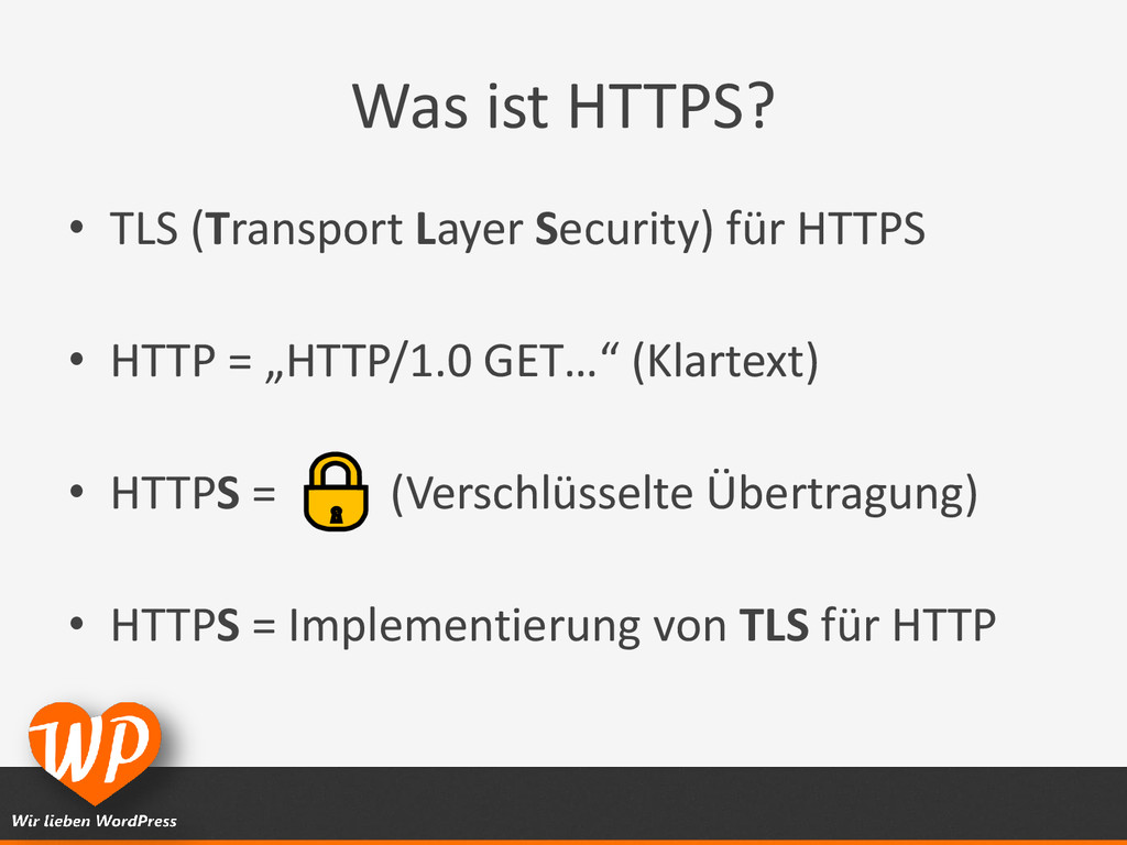 Was ist HTTPS? • TLS (Transport Layer Security)...