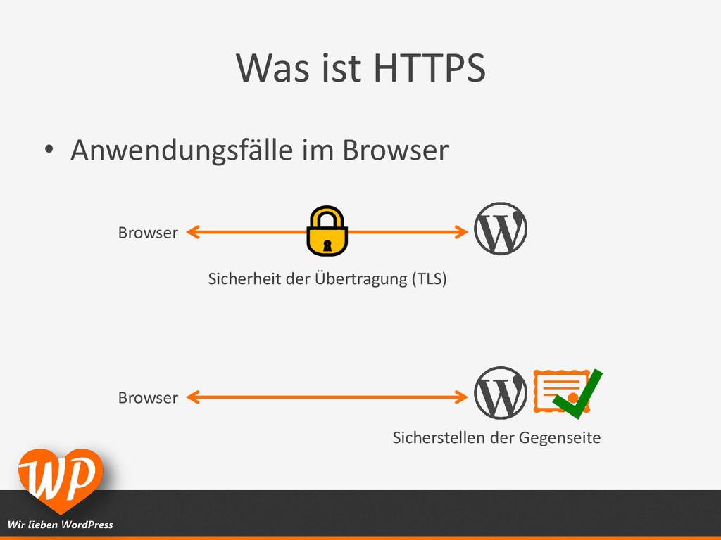 Was ist HTTPS • Anwendungsfälle im Browser Brow...