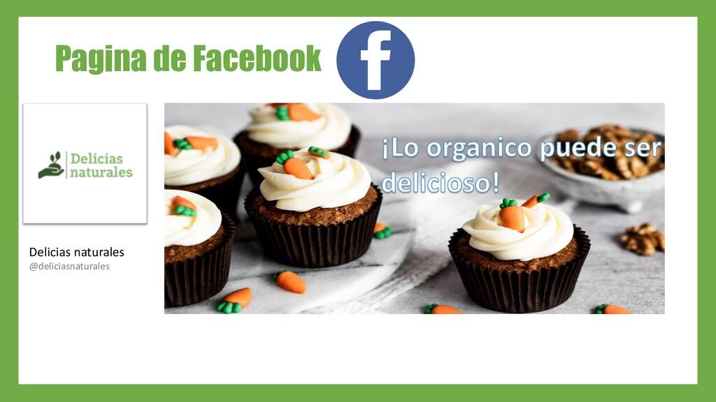 Pagina de Facebook Delicias naturales @delicias...