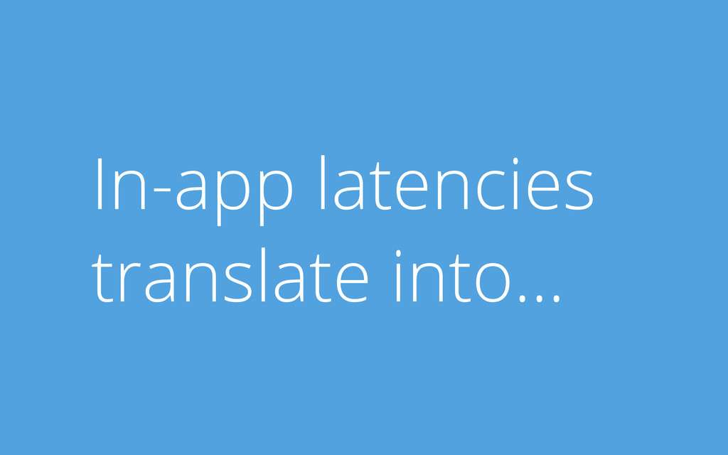 In-app latencies translate into...