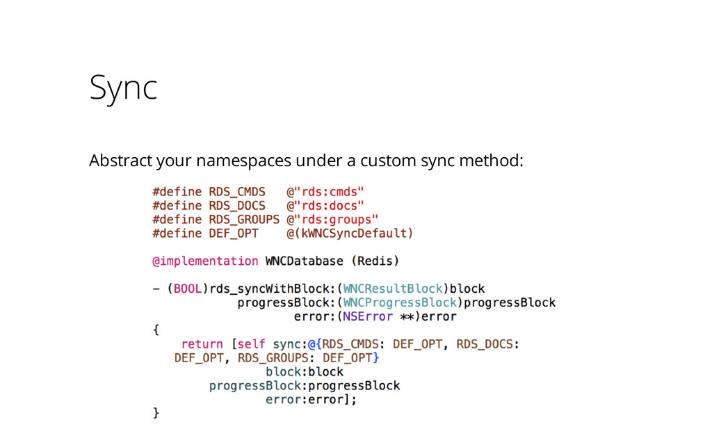 Sync Abstract your namespaces under a custom sy...