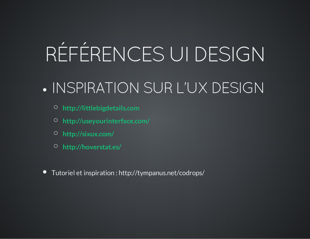 RÉFÉRENCES UI DESIGN INSPIRATION SUR L'UX DESIG...