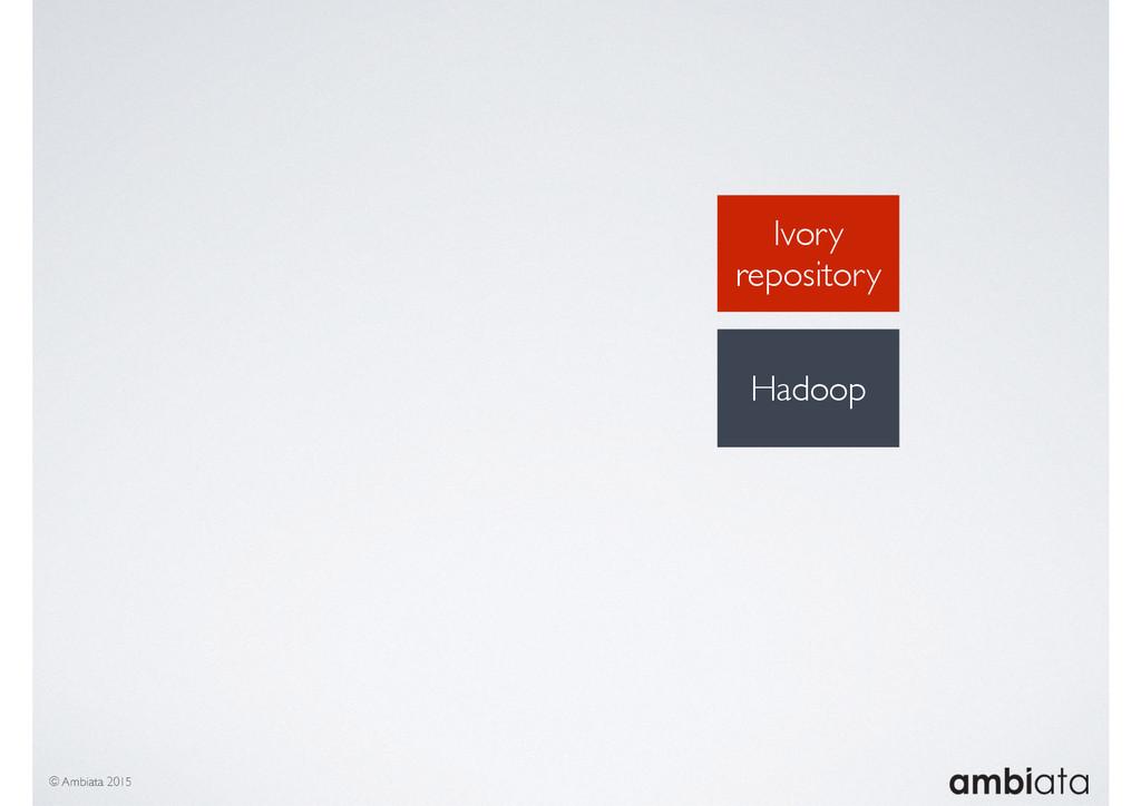 Ivory repository © Ambiata 2015 Hadoop